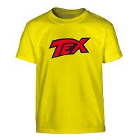Tex polo shirt - Yellow with red logo