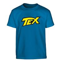Tex blue t-shirt - Yellow logo