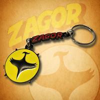 Zagor metal keychain