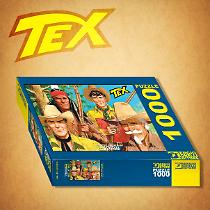 The puzzle of Tex with his pards