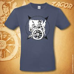 Zagor t-shirt Boat - Denim