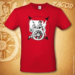 Zagor t-shirt Boat - Red